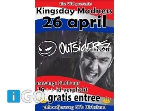 Kingsday Madness met 'the Outsiders' GRATIS