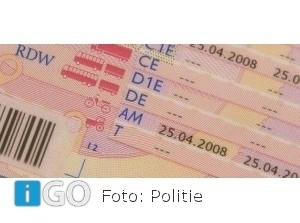 21-jarige uit Middelharnis niet zuinig op rijbewijs