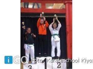 Zes podiumplaatsen Karateschool Kiyozumi op NK in Almere