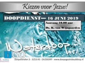 Doopdienst in Doopsgezinde gemeente Ouddorp