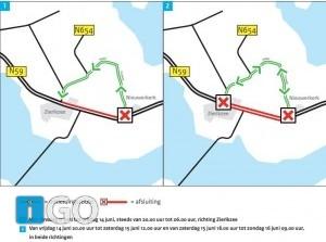 Verkeershinder N59: nacht- en weekendafsluiting Zierikzee