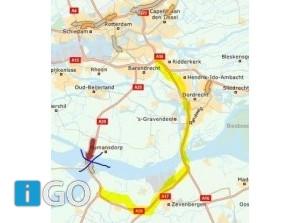 A29 Bergen op Zoom > Rotterdam dicht ernstig ongeval