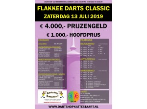 Flakkee Masters Darttoernooi in de Victoriahal