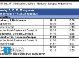 Kom gratis naar Ouddorp en Middelharnis met RTM-bus