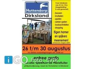 Gratis Huttendorp Dirksland met grote vrijmarkt