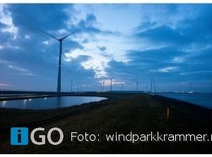 Obstakelverlichting Windpark Krammer eind 2020 zeer waarschijnlijk uit