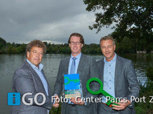 Center Parcs Port Zélande Ouddorp ontving Green Key 'Goud'-certificaat