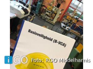 Eerste leerlingen RGO Middelharnis gestart met opleiding VCA