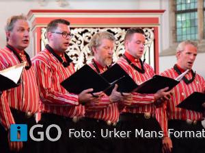 Kerstconcert Urker Mans Formatie in Dirksland