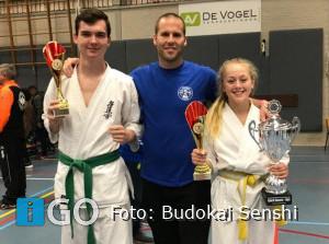 Jette Prins schittert voor Budokai Senshi op Ned. Kampioenschap Kyokushinkai Karate