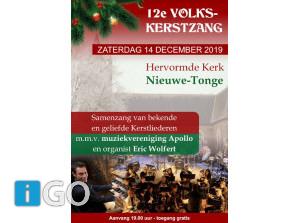 Zing mee met de 12e Volkskerstzang in Nieuwe-Tonge