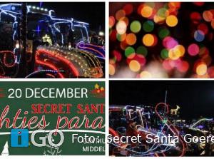 Secret Santa Lichtjesparade in Middelharnis + plattegrond route