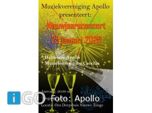Muzikale start 2020 muziekvereniging Apollo Nieuwe-Tonge