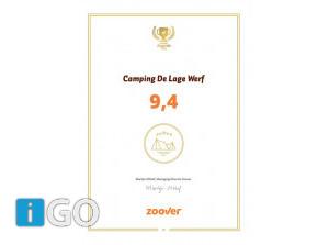 Camping De Lage Werf Den Bommel 3 jaar op rij Gouden Zoover Award
