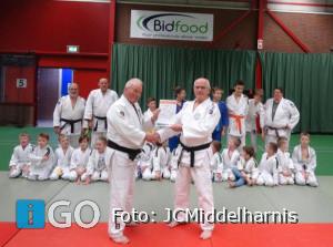 Piet van Alphen geslaagd voor diploma judotrainer JCMiddelharnis
