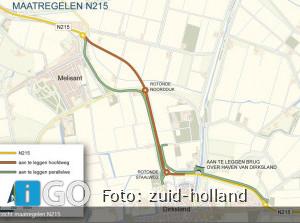 Werkzaamheden N215 Melissant-Dirksland weer verplaatst