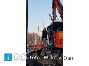 Nieuwe damwanden voor Havenkom Middelharnis