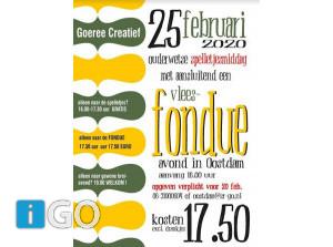Spelletjes en fondue bij Goeree Creatief in Oostdam