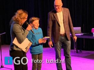 Loek Kant is voorleeskampioen van de provincie Zuid-Holland