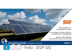 17 februari avond over veranderingen in energievoorzieningen