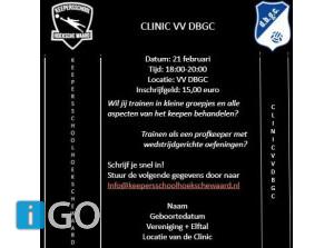 Opnieuw Keepersclinic bij DBGC Oude-Tonge