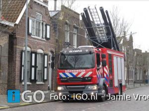 Overkapping in brand Eendrachtstraat Middelharnis