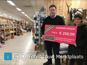 Cheque voor startende ondernemer minionderneming Day for Change