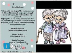 Maak een mooie tekening voor ouderen op Goeree-Overflakkee