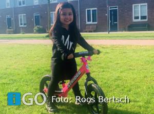 Roos en Ismael Zuid-Hollandse ambassadeurs loopfietsje