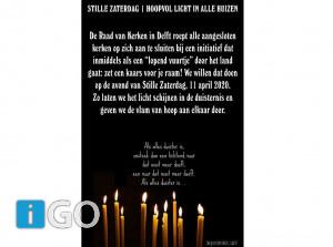 [video] Stille Zaterdag - Hoopvol licht in huizen opGoeree-Overflakkee