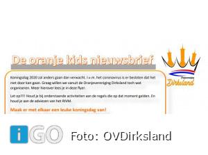 Oranjevereniging Dirksland: Maak er een mooie Koningsdag van met elkaar!