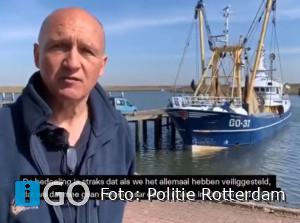 Update: menselijke resten, broek en schoenen in vissersnet