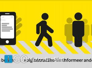 NL-Alert controlebericht ook op digitale vertrekborden bus te zien