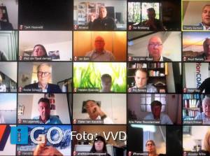 Ondernemers in gesprek over corona met VVD politici