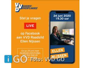 VVD raadslid Ellen Nijssen gaat live op Facebook