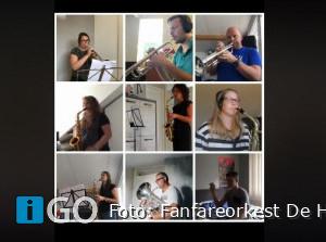 Fanfareorkest De Hoop brengt video uit in coronatijd