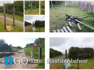 Panoramaweg Slikken Flakkee wegens vandalisme gesloten