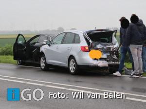 Melding kop-staart botsing N215 Langeweg Sommelsdijk