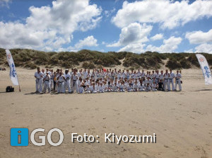Geslaagde strandtraining Kiyozumi in Ouddorp