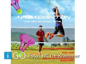 AirBadminton: 'the new outdoor game' kun je spelen in Middelharnis