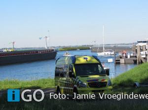 Ongeval binnenvaartschip Haringvliet Middelharnis