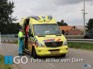 Traumaheli naar N59 voor gevallen wielrenner