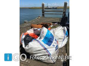 Record 71.820 kilo zwerfafval ingezameld door vissers Stellendam