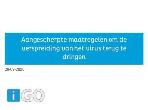 Nieuwe maatregelen ivm corona regio Rijnmond