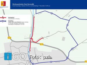 Oost-Havendijk Dirksland nog tot 17 dec. afgesloten