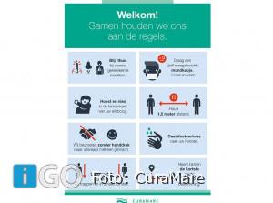 Aangescherpte regels ivm Corona bij locaties CuraMare Goeree-Overflakkee