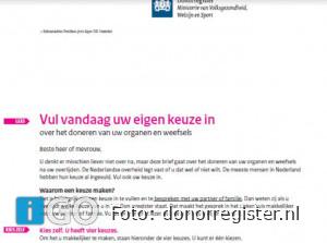 19.300 inwoners Goeree-Overflakkee ontvangen brief Donorregister