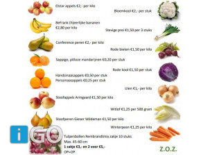 Novemberactie Ouddorp: bestel lokaal uw fruit en verse groente