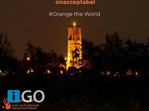 Goeree-Overflakkee kleurt oranje in strijd tegen geweld vrouwen