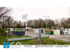 Werkzaamheden toegangsweg milieustraat Middelharnis